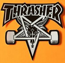 Thrasher Magazine Skateboard Sticker Skate Goat Logo Decal Mag SOTY KOTR Horns