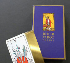 SEALED Rider Waite De Luxe Deluxe Tarot Cards Deck Gold Edges by AGMüller 1990
