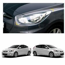 Chrome Head Light Lamp Front Cover Molding for Hyundai Accent 2012-2016