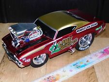 1:18 Maisto 1969 Chevrolet Chevelle SS Machines Dragster Muscle Car Custom Toy