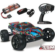 Traxxas Rustler VXL Brushless RTR RC Truck TSM & Quick Charger - HAWAIIAN BODY