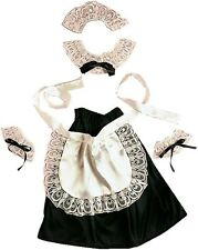 Sexy French Maid 4 Piece Set Rocky Horror Show Inc. Skirt Fancy Dress Costume