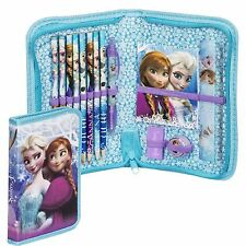 Disney Frozen Girls Deluxe 14 Pieces Filled Pencil Case Set School Stationery