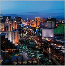 8x8FT Las Vegas Night Cityscape Custom Photo Studio Background Backdrop Vinyl