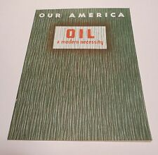 "VINTAGE COCA COLA 1940's ""Our America Oil"" with picture stamps"
