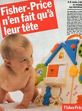 Publicité 1986  FISHER PRICE  jouets bébé enfants ..