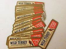 100 Vintage Wild Turkey Whiskey Decanter Labels