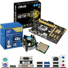 Intel Core i5 4460 3.2 GHz & ASUS H81M-PLUS - Scheda madre e CPU Bundle