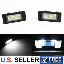 2X NO Error Canbus BMW X1 X3 X5 X6 SUV 24-SMD LED LICENSE PLATE LIGHT KIT WHITE