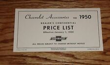 1950 Chevrolet Car & Truck Accessory Listing & Prices 50 Chevy