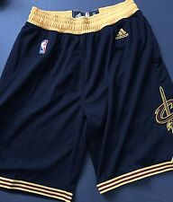 Nwt Adidas Cleveland Cavs Black Swingman NBA Basketball Shorts M Finals LeBron