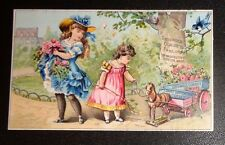 graphic Victorian trade card advertising Madame Griswold Corsets