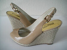 Michael Kors Keegan Sling Womens Wedges Shoes 6.5 Nude 40S4KEHG1A NEW WITH BOX