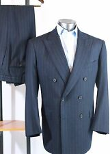 Brooks Brothers Golden Fleece BBGF 43R Navy Chalk Stripe Double Breasted Suit