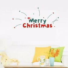 Merry Christmas Wall Quote Stickers Wall Art Decal Vinyl Removable Decor Mural