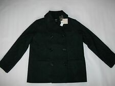 KATE SPADE Saturday Needle-Stitch WOOL PEACOAT Coat Jacket womens Sz LARGE NEW