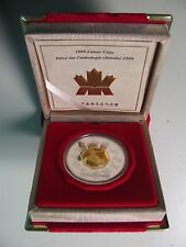 1999 Proof $15 Chinese Calendar #2-Year of the Rabbit Canada .925 silver w/ gold