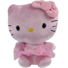 TY Beanie Babies Hello Kitty Pink Shimmer Plush 6in Tall