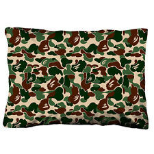 "BAPE BATHING APE CAMO Zippered Pillow Case 18""x 26"" Cushion Cotton Cover"