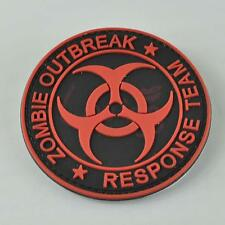 Zombie Outbreak 3D PVC Rubber Tactical Military Morale Velcro Patch Magic Badge