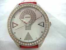 Guess watch for women with leather band U65007L3