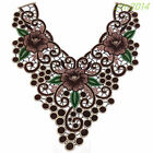 Lace Embroidered Venise Floral Neckline Neck Collar Trim Clothes Sewing Applique