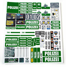 STICKERS for CUSTOM POLICE POLIZEI LEGO 7743 7237 7744 BUILDS, Toys, Etc 'GREEN'