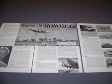 VINTAGE..GENERAL AIRCRAFT MONOSPARE ST-25..PHOTOS/DETAILS... (863C)