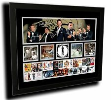 JAMES BOND 50 YEAR ANNIVERSARY SIGNED LIMITED EDITION FRAMED MEMORABILIA