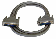 2m PC Serial RS232 Cable DB25 Male to Male Fully Wired all Pins Connected DB 25