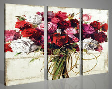 Quadri moderni Rose Mix Painting astratti tela stampe su tela canvas 130 x 90