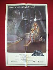 STAR WARS * 1977 ORIGINAL MOVIE POSTER STYLE A VINTAGE DARTH VADER AUTHENTIC NM