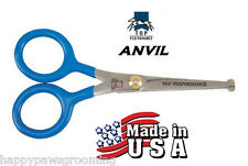 USA MADE TP/ANVIL PET Dog Cat GROOMING Face Safety/Blunt End/Tip Shears Scissors
