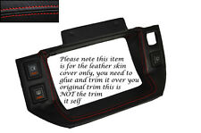 RED STITCH LEATHER SPEEDO SURROUND SKIN COVER FITS BEDFORD RASCAL