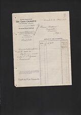 LACANCHE, Rechnung 1927, Etablissements Ant. Coste-Caumartin