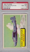 1957 Topps Planes #39 AVRO SHACKLETON PSA 8 NM/MT BLUE BACK British Recon