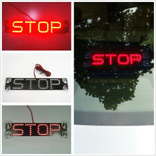 Rear Windshield Red STOP LED Sucker Warning Brake Lights For Honda Accord Acura