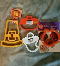 New Wilton Pumpkin Comfort Grip Cookie Cutter Ghost Hat Halloween Thanksgiving