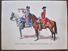 D. Mac Carthy Gendarmerie de France Compagnie des Gendarmes Bourguignons 1762