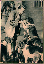1925 ROTOGRAVURE  STANLEY BALDWIN PREMIER HOUNDS CHECQUERS COUNTRY RESIDENCE