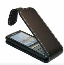 Black Premium PU Leather Fitted Insert Flip/Pouch Case Cover For Nokia 5230