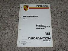 1985 Porsche 928S 928 S Assemble Adjusting Shop Service Repair Workshop Manual