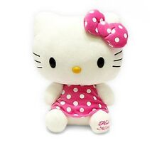 "Adorable Kids Girls Hello Kitty Pink Dot Dress Plush Toy Cute Doll 11.81""(30cm)"