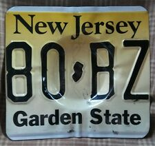 NEW JERSEY LICENSE PLATE ASHTRAY - KEYS HOLDER. - GARDEN STATE - AUTO - MAN CAVE