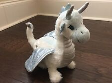 GANZ WEBKINZ WHITE AND BLUE ICE DRAGON  HM396 TOY PLUSH NO  CODE