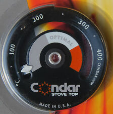 Thermometer for Multifuel & Woodstoves - Condar for use on woodstove top or Aga