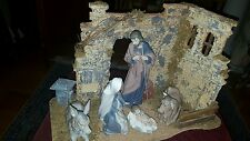 NAO BY LLADRO -  Complete 5 piece Nativity  Figure Set plus barn