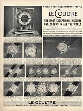 1955 Le Coultre Watches & Clock 17 Styles Great detailed Documentation PRINT AD