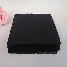 100pc Quality Neddle-2 Black Eyeglass Glasses Microfiber Cleaning Cloth 15x14cm