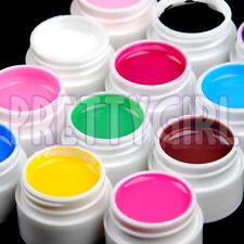 12 Color Solid Pure UV Builder Gel Nail Art Deco Tips Set Kit Polish Pro Base